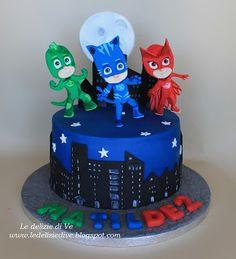 Le Delizie di Ve: PJ MASKS CAKE 3 Year Old Birthday Cake, Pj Masks Birthday Cake, Paw Patrol Birthday Cake, Baby Birthday Cakes, Boy Birthday Parties, 3rd Birthday, Martin Cars, Torta Pj Mask, Pjmask Party