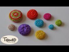 Como forrar botones a ganchillo - YouTube Crochet Earrings Pattern, Crochet Brooch, Crochet Buttons, Crochet Patterns, Crochet Necklace, Crochet Rings, Bead Crochet, Crochet Crafts, Crochet Projects