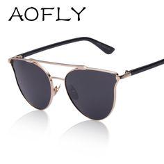 AOFLY Armação de Metal Do Vintage Óculos De Sol Mulheres Marca New Designer Cat Eye Glasses 2016 Moda Feminina Decoração Homens Clássico Óculos em Óculos Escuros de Moda e Acessórios no AliExpress.com | Alibaba Group