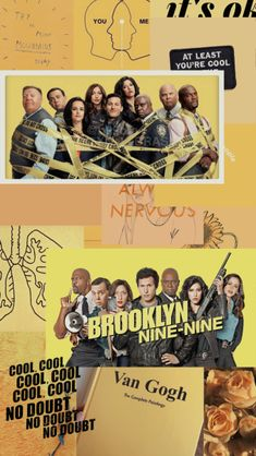 Blog Wallpaper, Wallpaper Iphone Cute, Aesthetic Iphone Wallpaper, Cute Wallpapers, Aesthetic Wallpapers, Brooklyn 9, Brooklyn Nine Nine Funny, Collage Background, Wall Collage