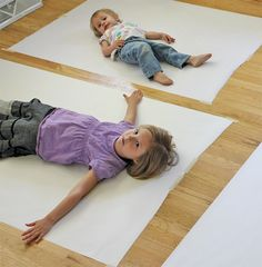 Body Tracing and Painting project from THE ARTFUL PARENT