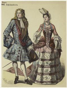 Image Title:  [French man and woman, 1730s.]