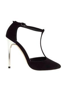 ASOS PLAYGROUND T-Bar Pointed High Heels