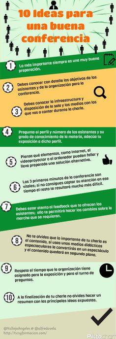 10 ideas para una buena conferencia #infografia #infographic #education
