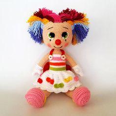 Miss Clown   Amigurumi Circus design contest   entry by Havva Designs
