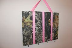 Hair Bow Organizer - Mossy Oak Camo and Pink  for your country girl. $20.00, via Etsy.