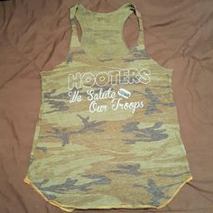 Hooters tank top Soft vintage feel, very comfy. Gently worn. Size small but runs just a tad smaller Tops Tank Tops