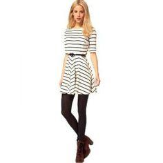 Bqueen Striped Dress BY164E - Bqueen women shoes, Bqueen designer dresses on sale