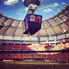 BC Place, home of the Vancouver Whitecaps MLS Soccer team.