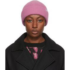 €101.0. A.P.C. Hat A.P.C. Pink Jude Beanie #apc #hat #beanie #accessories Textile Logo, Small Leather Wallet, Apc, Rib Knit, Merino Wool, Cashmere, Autumn Fashion, Beanie, Textiles