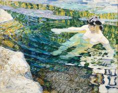 František Kupka (1871-1957), L'Eau, 1906-1909 Huile sur toile, 63 x 80 cm, Paris, Centre Pompidou, Musée national d'art moderne / Centre de création industrielle Dépôt au musée des Beaux-Arts de Nancy, 1998, Don d'Eugénie Kupka en 1963