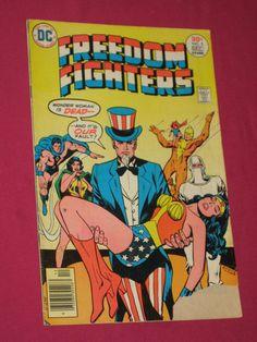 Freedom Fighters #5 DC Comics 1976 Wonder Woman Uncle Sam, Doll Man King Samson   eBay