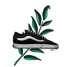 Vans Old Skool, Tattoo, Sneakers, Illustration, Shoes, Design, Fashion, Tennis Sneakers, Sneaker