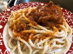 Spaghetti, Food And Drink, Pasta, Meat, Ethnic Recipes, Noodle, Pasta Recipes, Pasta Dishes