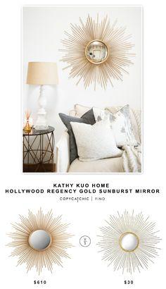 @kathykuohome Alessandra Hollywood Regency Gold Sunburst Convex Mirror $610 vs Target Metal Sunburst Mirror - Aged Gold $30