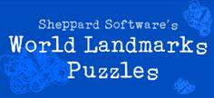 7 wonders World Landmarks Puzzles