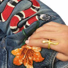 Snake Ring | Elsa Valencia Jewelry | Gucci Denim | Chic | Gold Jewelry | Gucci…