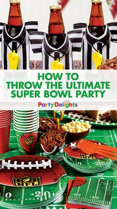 Watching the Super Bowl this year? Make it a party with our new NFL party supplies and Super Bowl party ideas! Find out how to throw the ultimate Super Bowl party with decorating ideas, Super Bowl party food ideas and other ways to celebrate the big game!