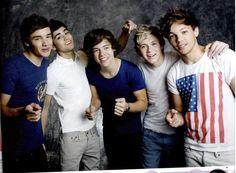 Louis wearing a U.S.A shirt:)