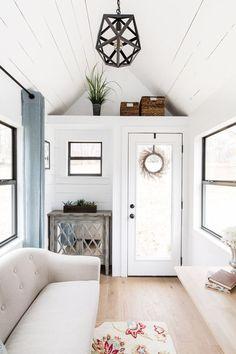 A 160 (20′ x 8.5′) square feet tiny house on wheels in Greensboro, North Carolina. Built by Tiny Life Construction.: