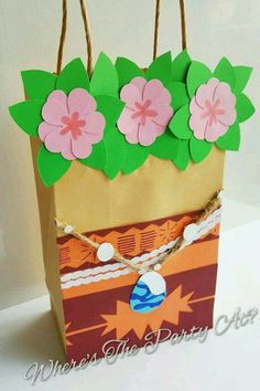 Items similar to Disney Moana Inspired Favor Bags Goodie Bags on Etsy Moana Themed Party, Moana Birthday Party, Luau Birthday, 6th Birthday Parties, Luau Party, Moana Party Bags, Moana Gifts, Festa Moana Baby, Aaliyah Birthday