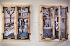 Klaus Dannerbauer: Bilderrahmen aus alten Holz Fenster
