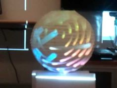 Cool 3D effect using video mapping to project onto a sphere.