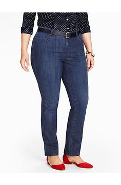 The Flawless Five-Pocket Straight Leg Jean - Delta Blue - Talbots