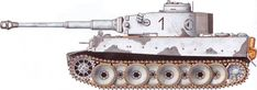 Tiger H/E camouflage patterns - Eastern Front, February 1943 sPzAbt502