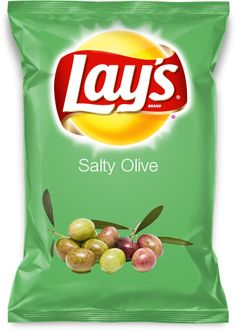 Salty Olive    Oh those yummy olives, now that's a great taste for anything especially a lays chip.