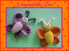 """Häkelanleitung """"Schmetterfalter-Duo""""Schmetterling"""