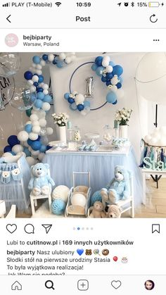 Sofia Tricia Zosa's media content and analytics Baby Shower Gifts For Boys, Boy Baby Shower Themes, Baby Shower Gender Reveal, Baby Shower Parties, Baby Boy Shower, Baby Birthday Cakes, Baby Boy 1st Birthday, Teddy Bear Baby Shower, Royal Baby Showers