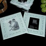 Glass photo coasters favors