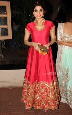 Shamita Shetty at Ekta Kapoor's #Diwali bash. #Bollywood #Fashion #Style #Beauty #Hot #Sexy #Desi