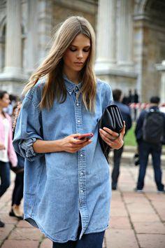 每個女生之必備單品:時尚又百搭的牛仔恤衫!