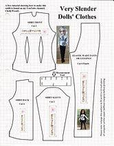 Resultado de imagen de Free Printable Monster High Doll Clothes Patterns