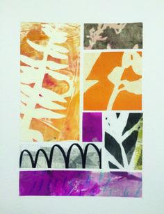 Art monotype montage collage