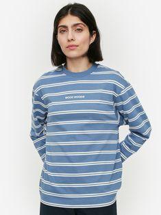 Short Sleeves, Long Sleeve, Poplin, Blue Stripes, Wood Wood, Women's Casual, Model, Cotton, How To Wear