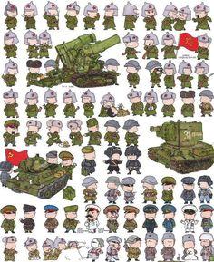 Caricaturas de soldados del mundo - Taringa!