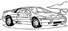 Ford truck coloring pages 01 coloring pages pinterest for Corvette car coloring pages