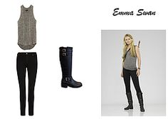 Emma Swan outfit - Once Upon a Time. #TheCelebrityDressingRoom