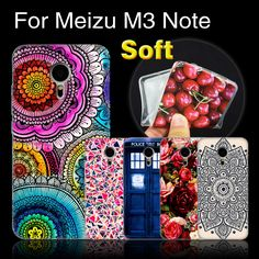 M3 Note Case Cover Ultra Thin Printing Phone Case For Meizu M3 Note, Protective Cases Cover For Meizu M3Note Silicone Back Cover