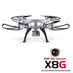 Syma X8G 2.4G 4CH With 8MP HD Camera Headless Mode RC Quadcopter -- You can get additional details at the image link.