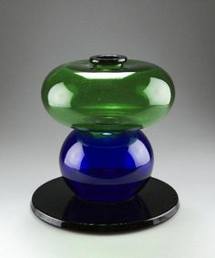 Glass vase by Ettore Sottsass