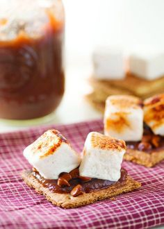 Apple Pie S'mores. Just switch out the chocolate for apple butter and cinnamon baking chips.