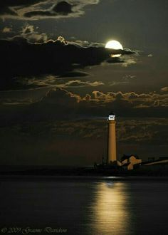 If faith were found in sapphire -then I would be the sea. And you my Lord, -the lighthouse, that glimmers back at me.Scurdy Ness Lighthouse in moonlight) Beautiful Moon, Beautiful Places, Beautiful Pictures, Amazing Photos, Amazing Places, Wonderful Places, Amazing Art, Lighthouse Pictures, Shoot The Moon