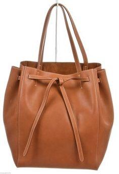 f03079de564f Celine Calfskin Cabas Phantom Tie Medium Handbag Tan Tote Bag  1