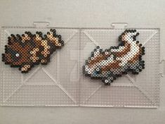 #263-#264 Zigzagoon and Linoone Perlers by TehMorrison