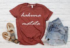Hakuna Matata Shirt  White Letters