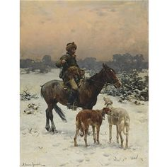 Artworks of Alfred von Wierusz-Kowalski (Polish, 1849 - 1915)